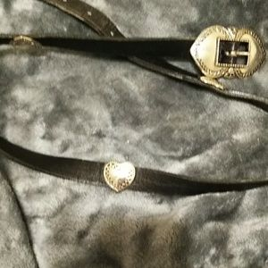 Beautiful black western-style belt